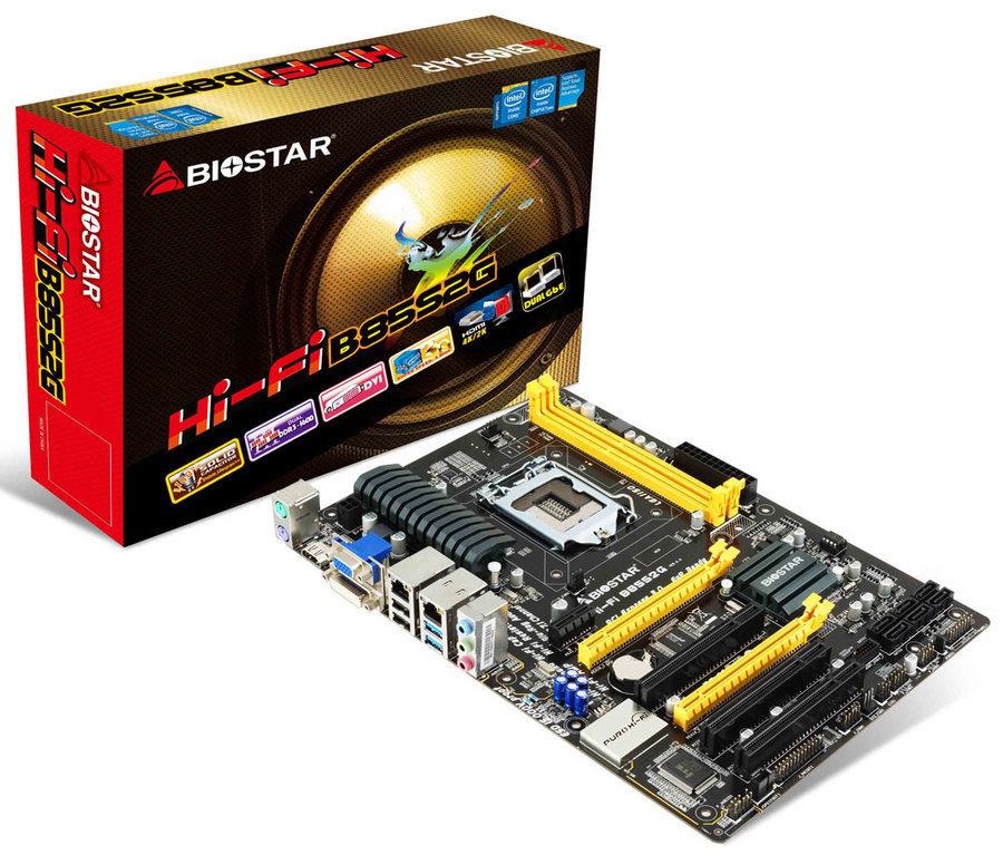 Hi-Fi B85S2G INTEL Socket 1150 gaming motherboard